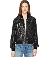 The Kooples - Sequin Fabric Jacket with Contrasting Piping