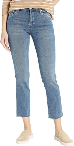 The Madison Crop High-Rise Crop Jeans in Star Bursts