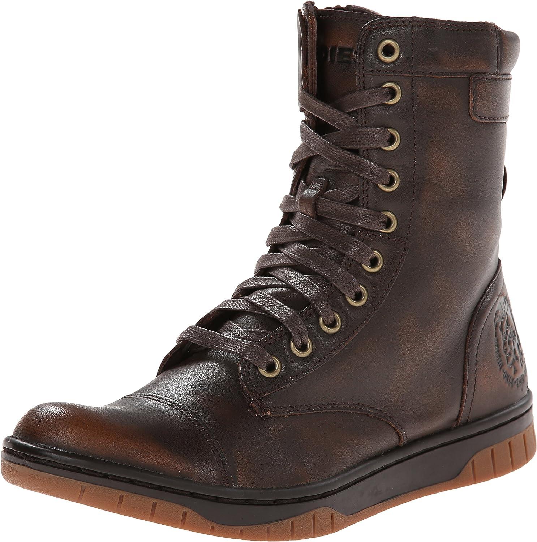 Diesel Men's Tatradium Basket Butch Zip Combat Boot, Coffee Bean, 7 M US