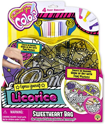 Fashions You Farbe Licorice Sweetheart Bag, Princess by Fashions You Farbe