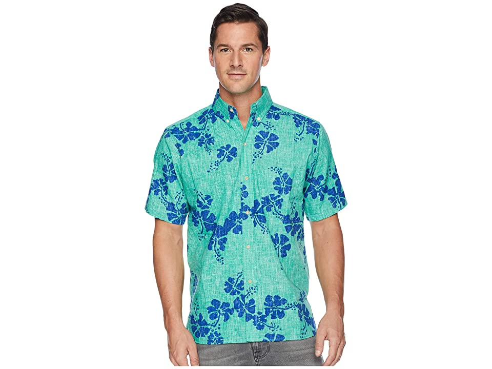 Reyn Spooner 50th State Flower Button Front Aloha Shirt (Mint) Men