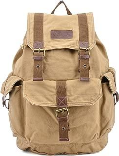 Gootium Canvas Backpack - Vintage Outdoor Rucksack Travel Day Pack