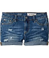 The Heather Roll Cuff Shorts in Sanded Wash (Big Kids)