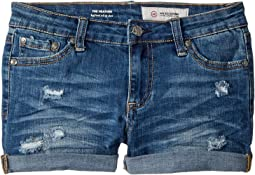 AG Adriano Goldschmied Kids - The Heather Roll Cuff Shorts in Sanded Wash (Big Kids)