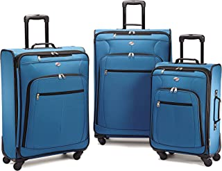 Pop Plus 3-Piece Softside (SP21/25/29) Luggage Set with Multi-Directional Spinner Wheels, Moroccan Blue