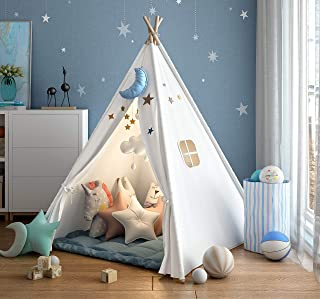 wilwolfer Teepee Tent for Kids Foldable Children Play Tents for Girl and Boy with Carry..