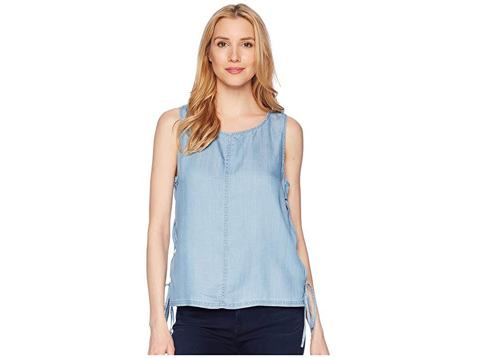 TWO by Vince Camuto Sleeveless Shirting Tencel Blouse with Lace-Up Sides (Vintage) Women