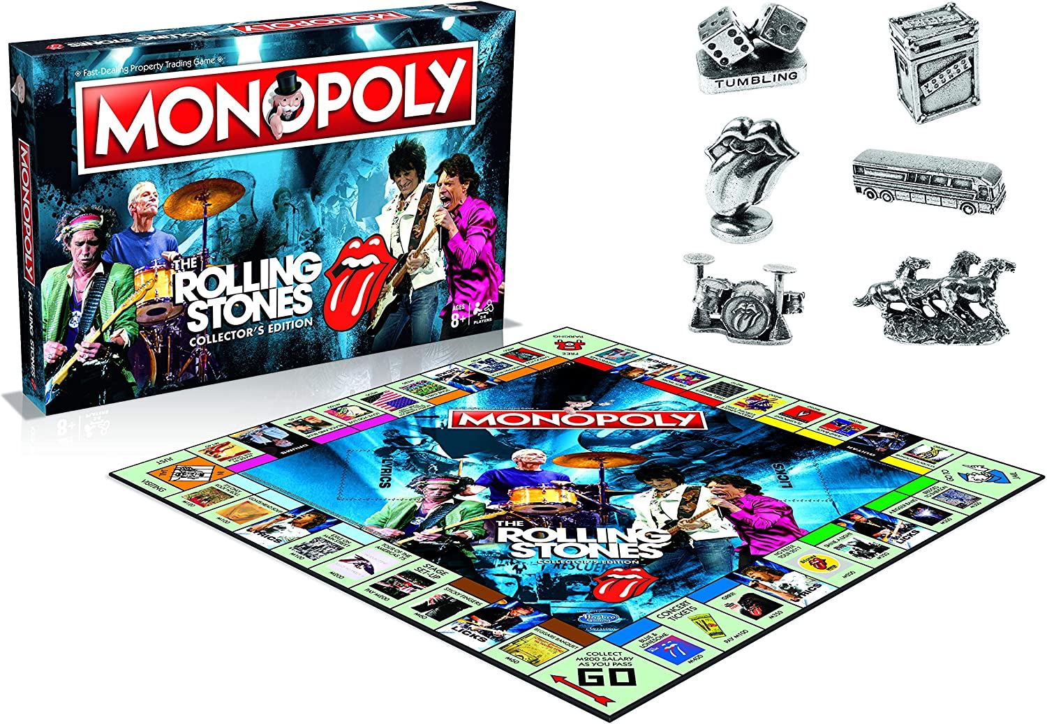Winning Moves Monopoly, englische Ausgabe Rolling Stones