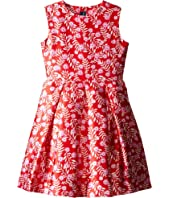 Oscar de la Renta Childrenswear - Petite Roses Mikado Party Dress (Toddler/Little Kids/Big Kids)