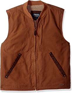 Smith's Workwear Men's Sherpa Lined Duck Canvas Vest