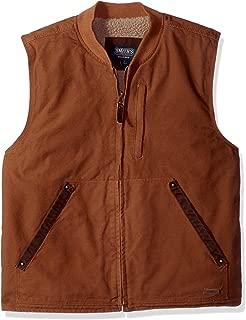 Men's Sherpa Lined Duck Canvas Vest