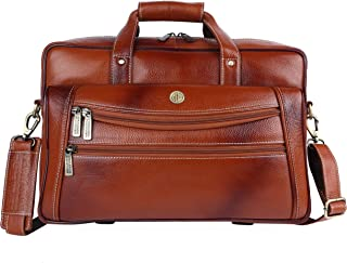Hammonds Flycatcher Genuine Leather 15.6 inch Men's Laptop Messenger Bag LB166TN (Tan)