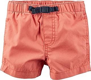 Carter's Boys Pull-On Ripstop Shorts, Orange, 24m