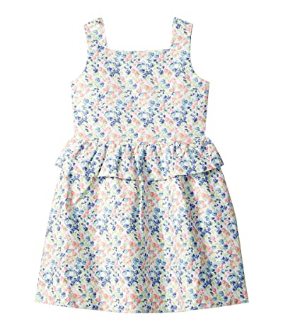 Janie and Jack Sleeveless Peplum Dress (Toddler/Little Kids/Big Kids) (Green Ditsy Floral) Girl