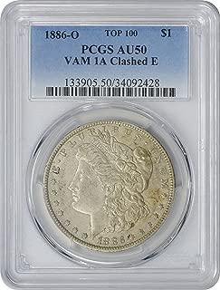1886 o morgan silver dollar pcgs