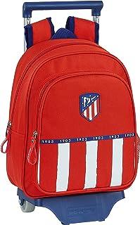 Mochila Safta Infantil de Atlético de Madrid 1ª Equipación 20/21 con Carro Safta 705 , 270x100x330mm