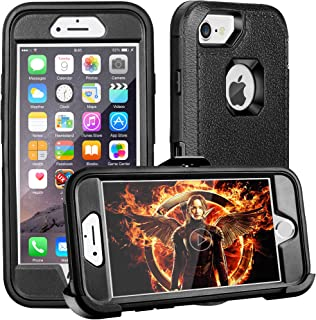 FOGEEK iPhone 8 Plus Case,iPhone 7 Plus Case,iPhone 6s Plus Case, [Dust-Proof] Belt-Clip Heavy Duty Kickstand Cover[Shockproof] for Apple iPhone 8 Plus,iPhone 7 Plus,iPhone 6/6s Plus (Black)