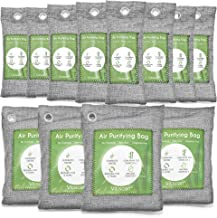 12 Pack Bamboo Charcoal Air Purifying Bag, Activated Charcoal Bags Odor Absorber, Moisture Absorber, Natural Car Air Fresh...