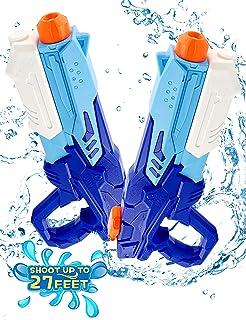 HOPOCO Pistolet à Eau pour Enfants, 2 Pack 600ML Pistolets à Eau avec 10M Longue Distance Jouet d'été, Excellent Choix Jeu...