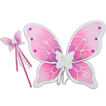 con purpurina Alas para disfraz de mariposa o hada de Zacs Alter Ego/®