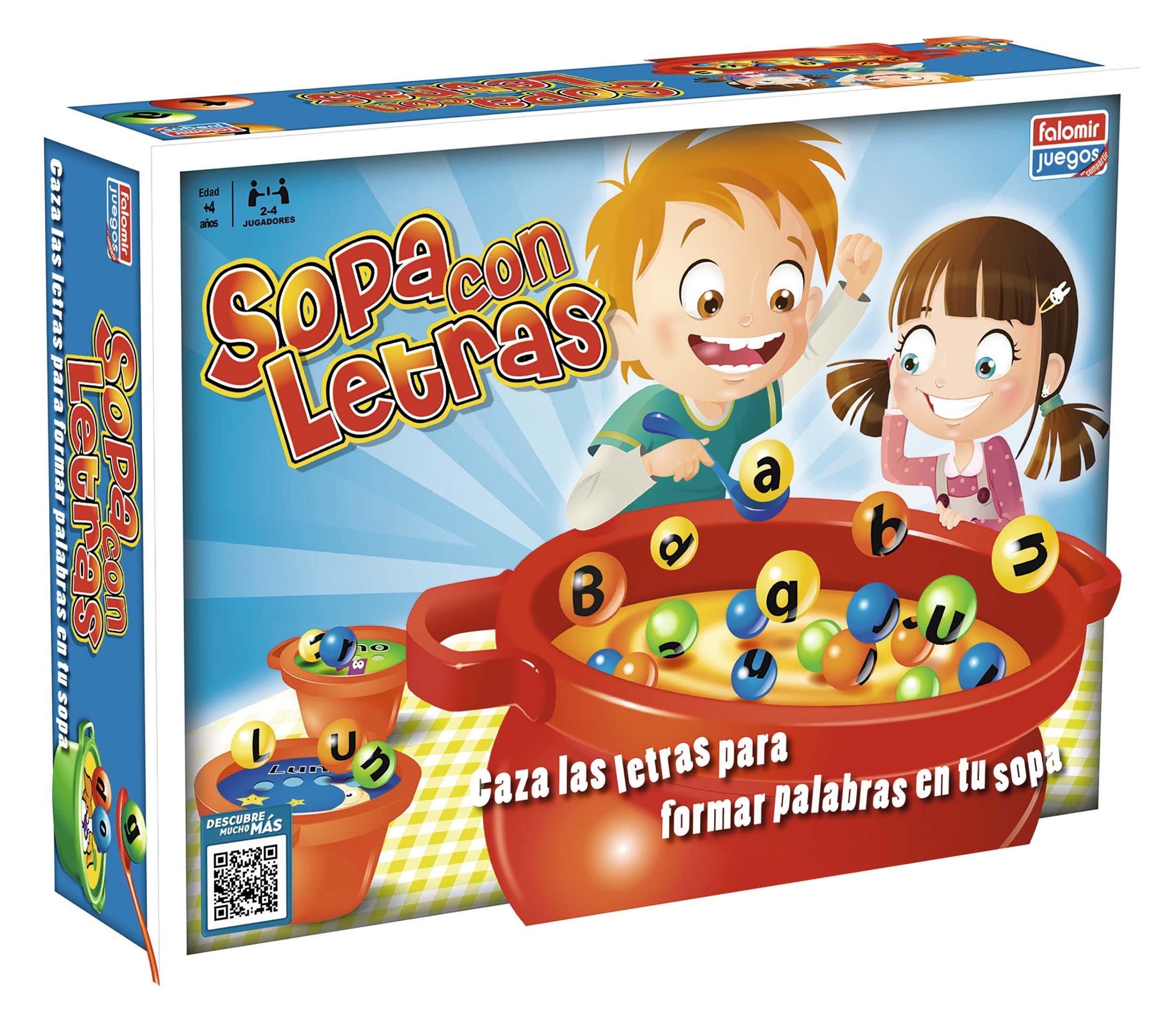 Falomir Sopa con Letras Mesa. Juego Educativo. (24002): Amazon.es: Juguetes y juegos