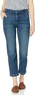 Goodthreads Amazon Brand Women's Boyfriend Slit Pocket Jean, Resin Dark Fade 27
