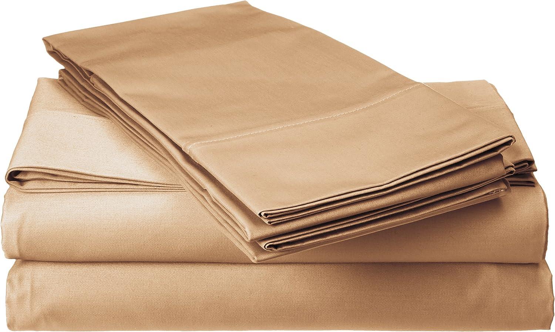 Francois et Mimi 800 Thread Count 100% Cotton Sheet Set, Queen, Khaki