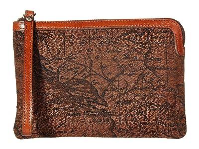 Patricia Nash Cassini Wristlet (Brown/Tan) Wristlet Handbags