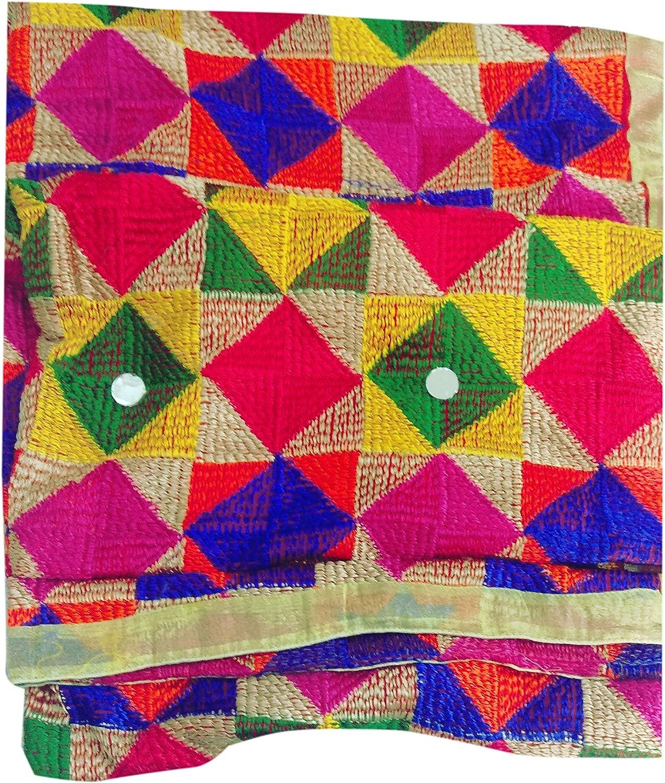 Designer India Phulkari Dupatta Chunni Stole Handmade for Lengha Salwar Kameez for Women
