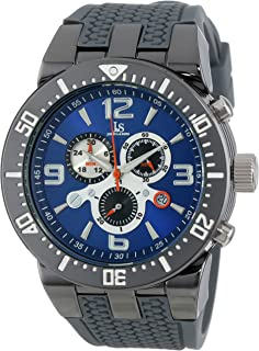 Joshua & Sons Men's Analogue Display Quartz Watch with Silicone Strap