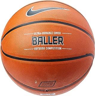 Nike Baller Basketball Full Size (29.5,  Ages 13+) Amber/Black/Metallic Platinum