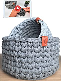 Lot de 2 paniers à crochet pour débutants et experts - Kit de crochet avec instructions vidéo (français non garanti) - Kit...