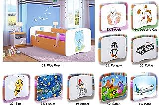 Children's Beds Home Cama Individual BabyDreams - para niños Niños Niños pequeños Sin cajones y sin colchón Incluido (Naranja, 140x70)