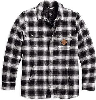 Men's Reinforced Slim Fit Riding Shirt Jacket, Black