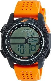 Sonata Fibre (SF) Digital Grey Dial Men's Watch-77057PP04