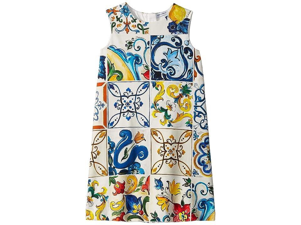 Dolce & Gabbana Kids Knit Maioliche Dress (Little Kids/Big Kids) (Maioliche Print) Girl