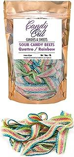 CandyOut Fantasy Rainbow Sour Belts 1 Pound