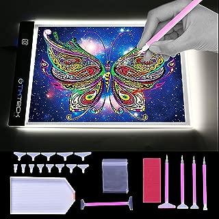 A4 Ultra-Thin Portable LED Light Box Tracer USB Power Cable Dimmable Brightness Artcraft Tracing Light Pad Light Box w 5D Diamond Painting Tool Set