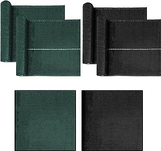 Estexo HDPE hekscherm, privacy, tennisscherm, omheining, net, schaduwdoek, stof, windscherm 1,0 x 25 m groen