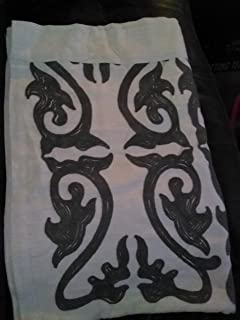 Threshold Scroll Embroidery Curtain Panel Sour Cream Radiant Gray 84