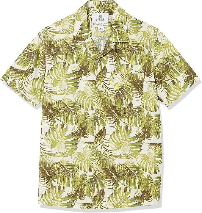 1950s Mens Shirts | Retro Bowling Shirts, Vintage Hawaiian Shirts Amazon Brand - 28 Palms Mens Standard-Fit 100% Cotton Hawaiian Shirt $23.00 AT vintagedancer.com