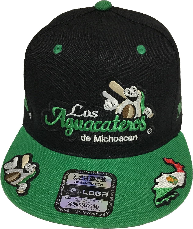 Los Atlanta Sale price Mall Aguacateros De Michoacan Hat 5 Green Logos Black