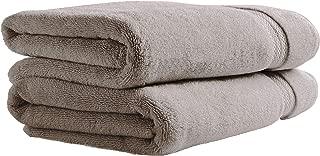 Stone & Beam Heavyweight Turkish Cotton Bath Towels, Set of 2, Heather