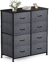 Yesker 8 Drawers Nightstand Fabric Dresser Storage Tower, Sturdy Steel Frame Organizer Unit Furniture for Bedroom, Closet,...