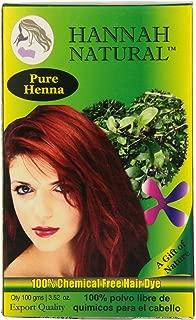 Hannah Natural 100% Pure Henna Powder, 100 Gram