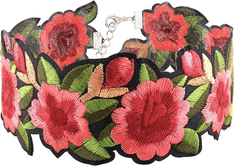 Best Wing Jewelry Flower Choker Necklace (Adjustable)
