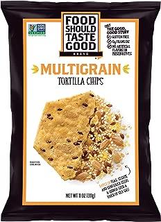 Food Should Taste Good Tortilla Chips Gluten Free non-GMO Multigrain 11.0 oz Bag