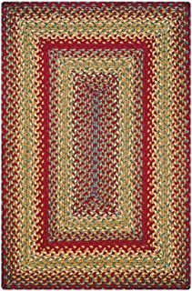 Cider Barn Premium Braided Jute Rug by Homespice, 27 x 45 Rectangle Red Color, Reversible Imported Jute Yarn, Higher Quality, Longer Lasting, Longer Wear - 30 Day Risk Free Purchase