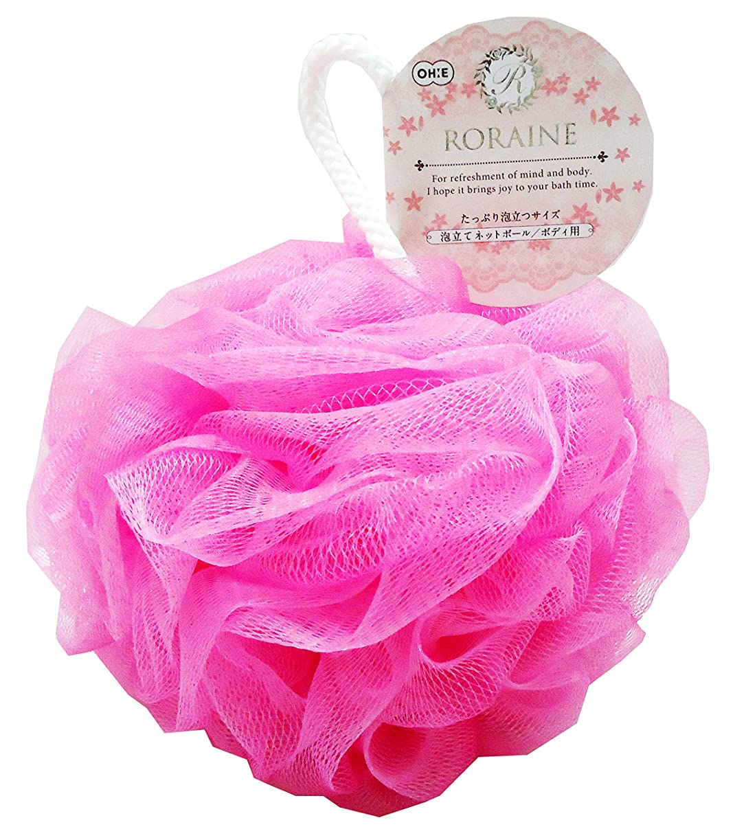 ウェイトレス欺ロイヤリティオーエ 泡立て ネット ピンク 約縦22×横12.5×奥行12.5cm ロレーヌ ネットボール ボディ用