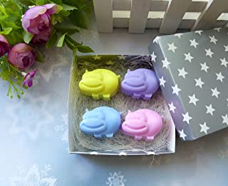 Soap set 4 hippo - cute gift for the baby